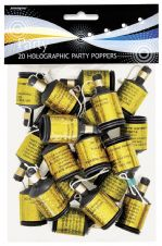 20 Gold Glitz Party Poppers